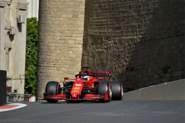Pole position para o GP do Azerbaijão - Baku - 2021 - Foto: Twitter Ferrari Oficial