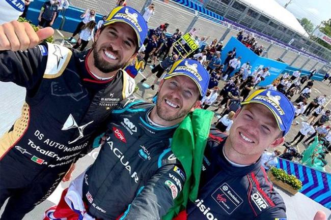 Vencedores da 11ª etapa - Fórmula E 2021 - Foto: Michelin / Instagram Fórmula E