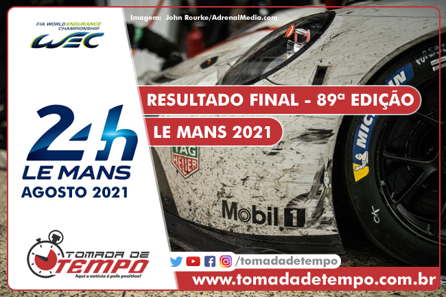 WEC – 24 HORAS DE LE MANS – Resultado Final – 2021